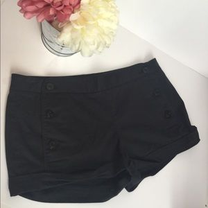 Talula black front button shorts sz 10 by Aritzia